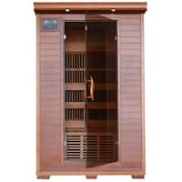 2-person Cedar Deluxe Infrared Sauna with 6 Carbon Heaters