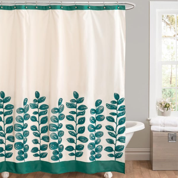 Lush Decor Vineyard Allure Green Shower Curtain