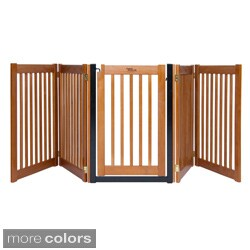 Highlander 32-inch Freestanding 5-panel Walk-through Pet Gate