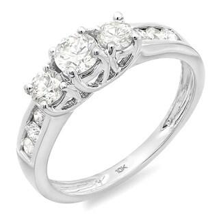 10k Gold 1/3ct TDW Round Diamond 3-stone Engagement Ring