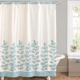 Lush Decor Vineyard Allure Blue Shower Curtain