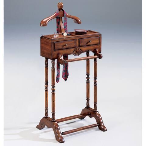 Handmade Butler Cherry Valet Stand