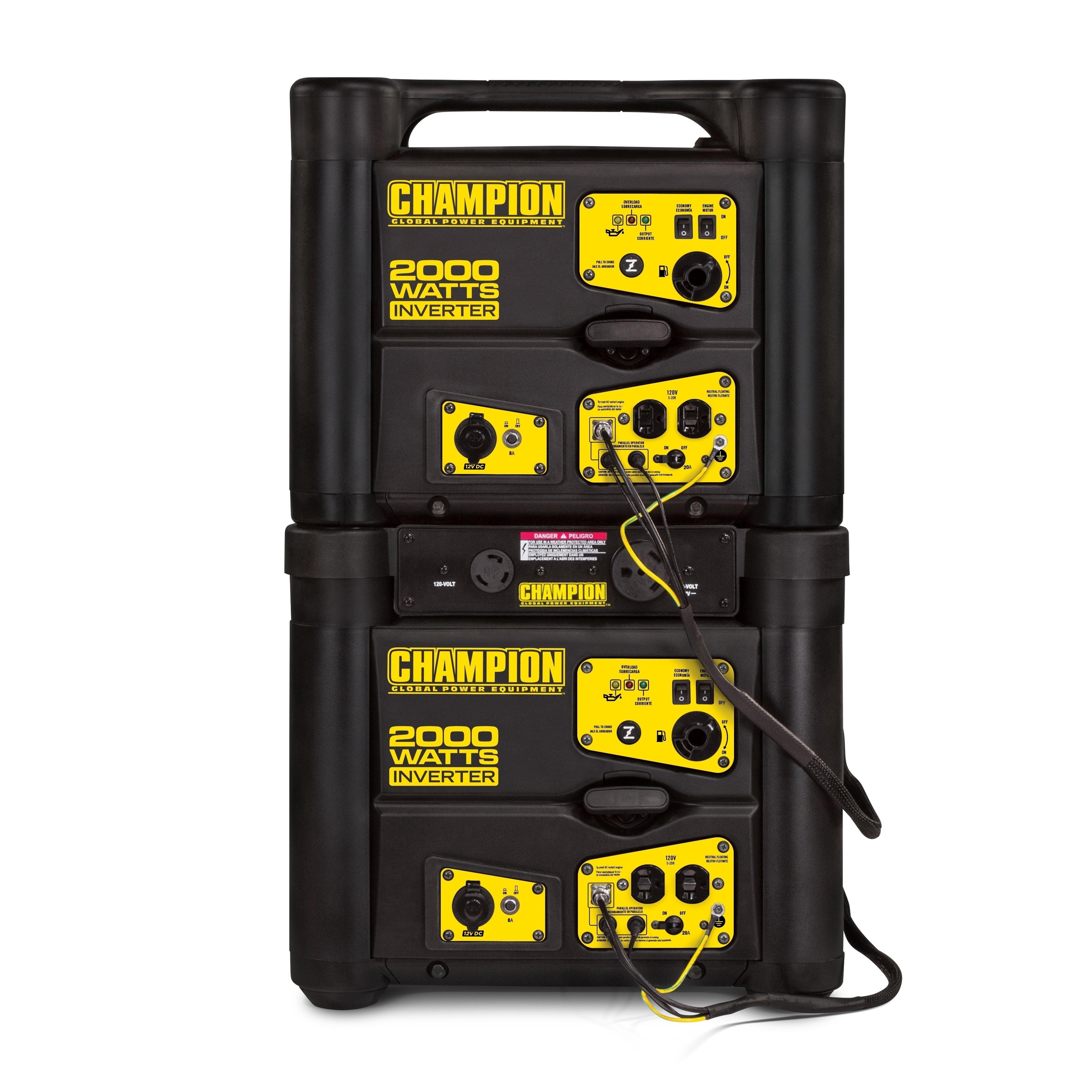Champion 2000-Watt Stackable Portable Inverter Generator - Black