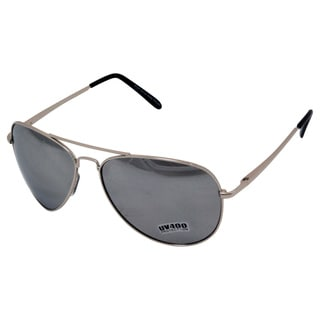 'Aviate' Steel and Black Aviator Sunglasses