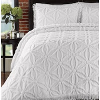 LaMont Home Arianna Collection – 100% Chenille Cotton Bedspread Set