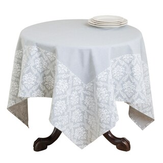 Damask Border Print Cotton Table Topper (2 options available)