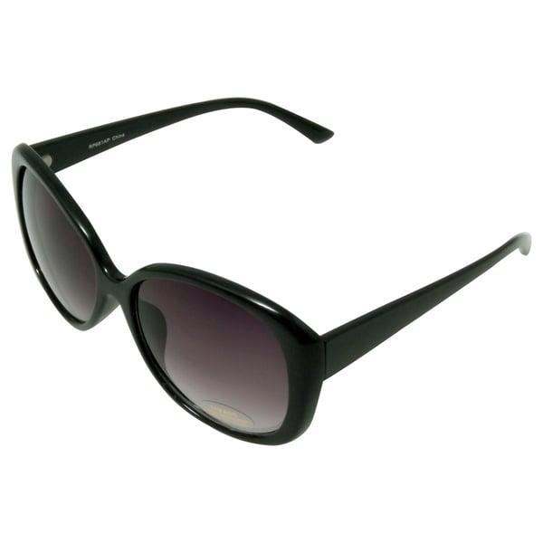 Women's 'Castle' Black Cat-eye Sunglasses