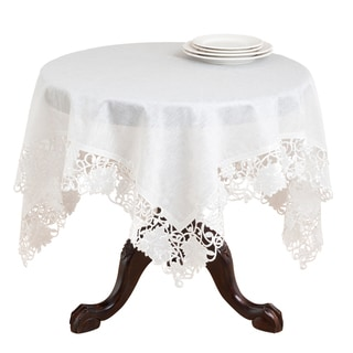 Off-white Embroidered Cutwork Table Topper or Runner