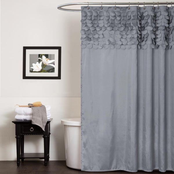 Lush Decor Lillian Grey Shower Curtain