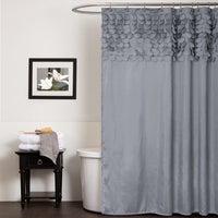 Lush Decor Lillian Grey Shower Curtain