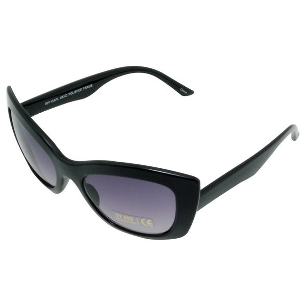Women's 'Lady Lush' Black Cat-eye Sunglasses