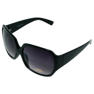 Women's 'Viv' Black Wide Frame Square Sunglasses