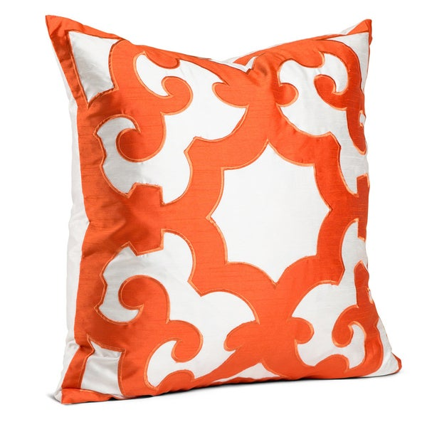 Bukara Two-tone 24-inch Embroidered Throw Pillow