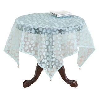 Flocked Dot Design Organza Table Topper