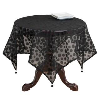 Flocked Dot Design Organza Table Topper (More options available)