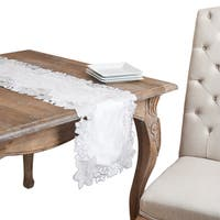 Silver Snowflake Cutwork Holiday Table Runner