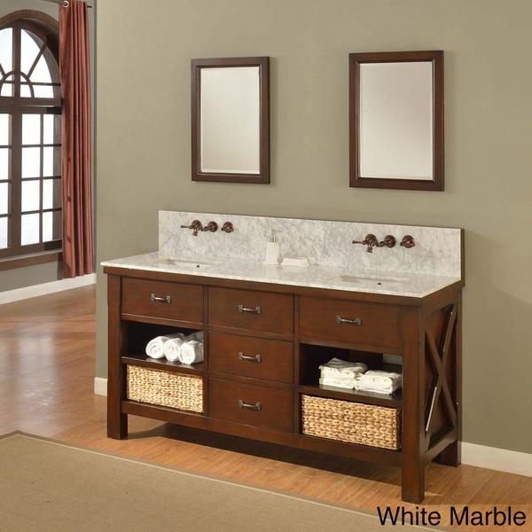 "Direct Vanity Sink 70"" Xtraordinary Spa Premium Espresso Double Vanity Sink Cabinet"