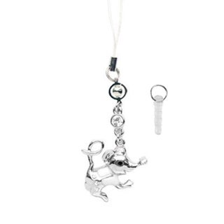 INSTEN Cellphone Charm TA4132 Mouse - Silver