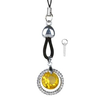 INSTEN Cellphone Charm TA3415 Crystal - Yellow