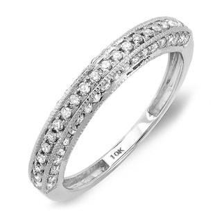 10k White Gold 1/2ct TDW Diamond Anniversary Wedding Band