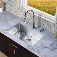 VIGO All-in-One 30-inch Stainless Steel Undermount Kitchen Sink and Brant Stainless Steel Faucet Set