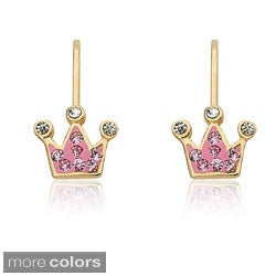 Molly Glitz 14k Goldplated Crystal Crown Earrings|https://ak1.ostkcdn.com/images/products/8237897/Molly-Glitz-14k-Goldplated-Crystal-Crown-Earrings-P15566197.jpg?_ostk_perf_=percv&impolicy=medium