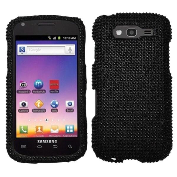 INSTEN Black/ Diamante Phone Case Cover for Samsung T769 Galaxy S Blaze 4G