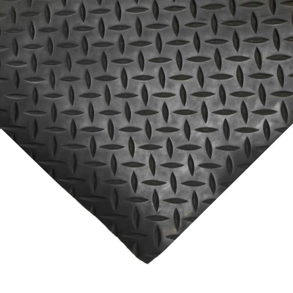 Black Diamond Plate Rubber Floor Mats