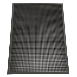"Rubber-Cal ""Door Scraper"" Commercial Entry Mat - 5/8 x 24 x 32-inch  Black Outdoor Entrance Mat"