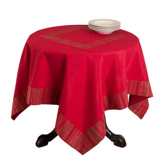 Red Striped Design Table Topper