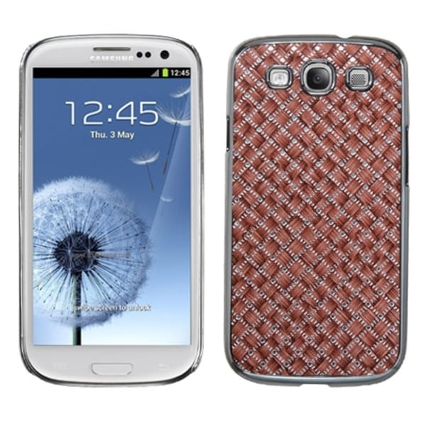 INSTEN Vermilion Silver/ Plaid Phone Case Cover for Samsung Galaxy S3/ III i9300