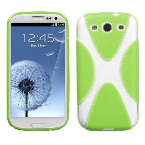 BasAcc Clear/ Green/ X-shape TPU Gel Case for Samsung Galaxy S3 i9300