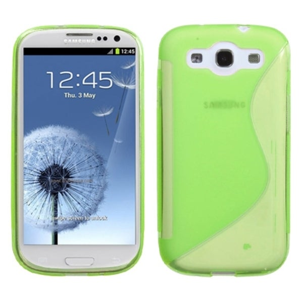 INSTEN Apple Green/ S-shape Phone Case Cover for Samsung Galaxy S3/ III i9300