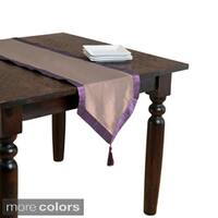 Iridescent Table Runner with Contrasting Border & Tassel
