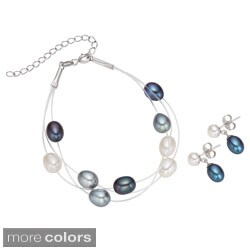 Pearlyta Sterling Silver Multi-colored FW Pearl Bracelet and Earring Set (7-8 mm)|https://ak1.ostkcdn.com/images/products/8238188/Pearlyta-Sterling-Silver-Multi-colored-FW-Pearl-Bracelet-and-Earring-Set-7-8-mm-P15566164.jpg?_ostk_perf_=percv&impolicy=medium