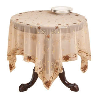 Hand Beaded Table Linen (Table Topper or Table Runner)