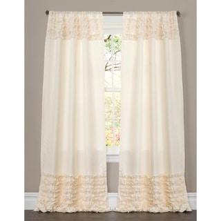Lush Decor Skye Ivory Ruffled 84-inch Curtain Panel