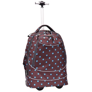 Pacific Gear by Traveler's Choice Turquoise/ Brown Horizon Rolling Laptop Backpack