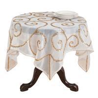 Hand-beaded Table Linens (Table Topper or Table Runner)