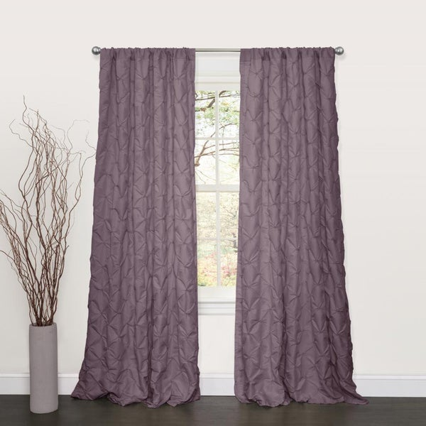 Lush Decor Lake Como Purple 84-inch Curtain Panel