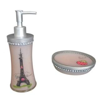 Sherry Kline Paris with Love Bath Accessory 2-piece Set