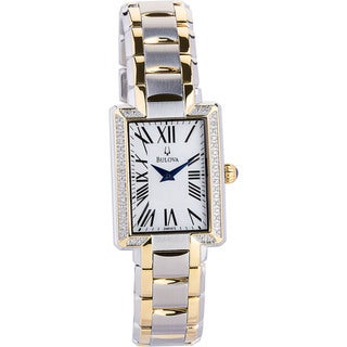 Bulova Women's 98R157 Diamond Two-Tone Stainless Steel Quartz Mother-Of-Pearl Dial Watch