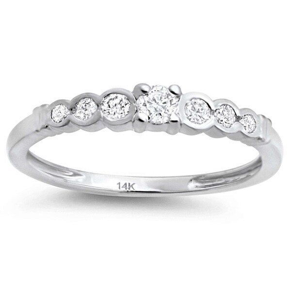 Elora 14k White Gold 1/4ct TDW Diamond Wedding Band (H-I, I1-I2)
