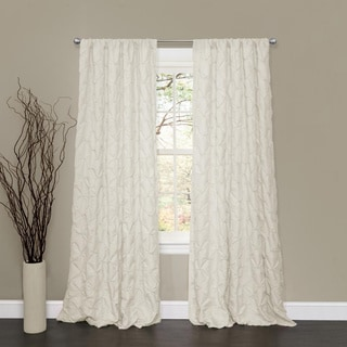 Lush Decor Lake Como Ivory 84-inch Curtain Panel