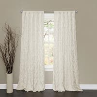 "Lush Decor Lake Como Ivory 84-inch Curtain Panel - 50""W X 84""L"