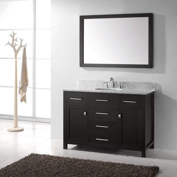 Virtu Usa Caroline 48 Inch Single Sink Bathroom Vanity Set Free Shipping Today