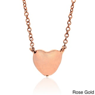 Molly and Emma Gold over Sterling Silver Heart Necklace (2 options available)