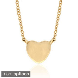 Molly and Emma Gold over Sterling Silver Heart Necklace