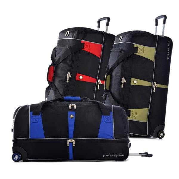 Olympia Executive Elite 30-inch Drop Bottom Rolling Duffel Bag
