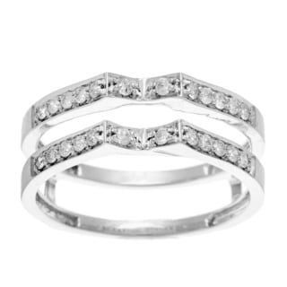 Elora 14k White Gold 1/3ct TDW Diamond Enhancer Ring (H-I, I1-I2)